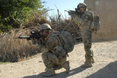 British infantrymen on patrol in Afghanistan