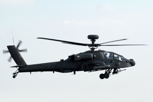 Apache helicopter on patrol