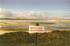 Falklands mine field